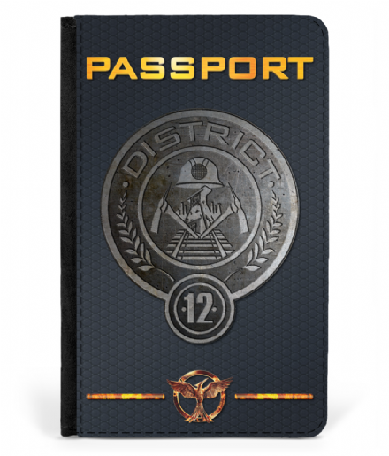 District 12 of Panem Faux Leather Passport Cover from The Hunger Games